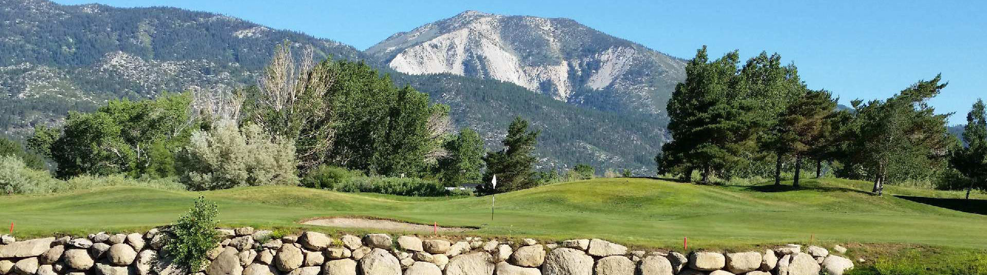 The mountain backdrop at Toiyabe Golf Club
